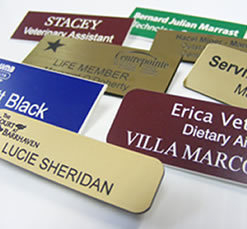 Two or Three Line Engraved Name Badge